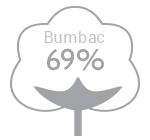 69% bumbac