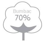 70% bumbac
