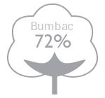72% bumbac