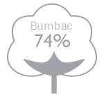 74% bumbac