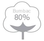 80% bumbac