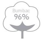 96% bumbac