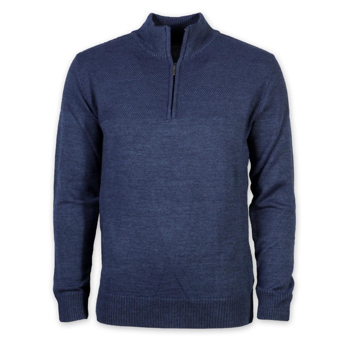 Férfi meleg pulóver Willsoor 8722 a kék szín