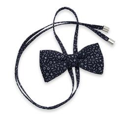 fe10ad105e Női íj nyakkendő val vel kontraszt fehér minta 10598